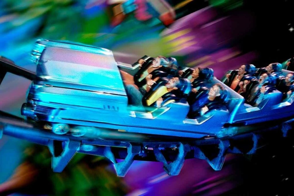 Visualization of the rock n roller coaster at Disney World's Hollywood Studios.