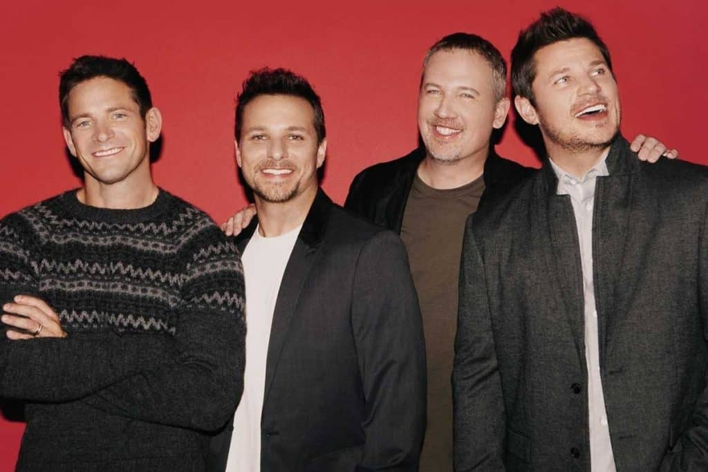 Photo of 90s boy band, 98 Degrees.