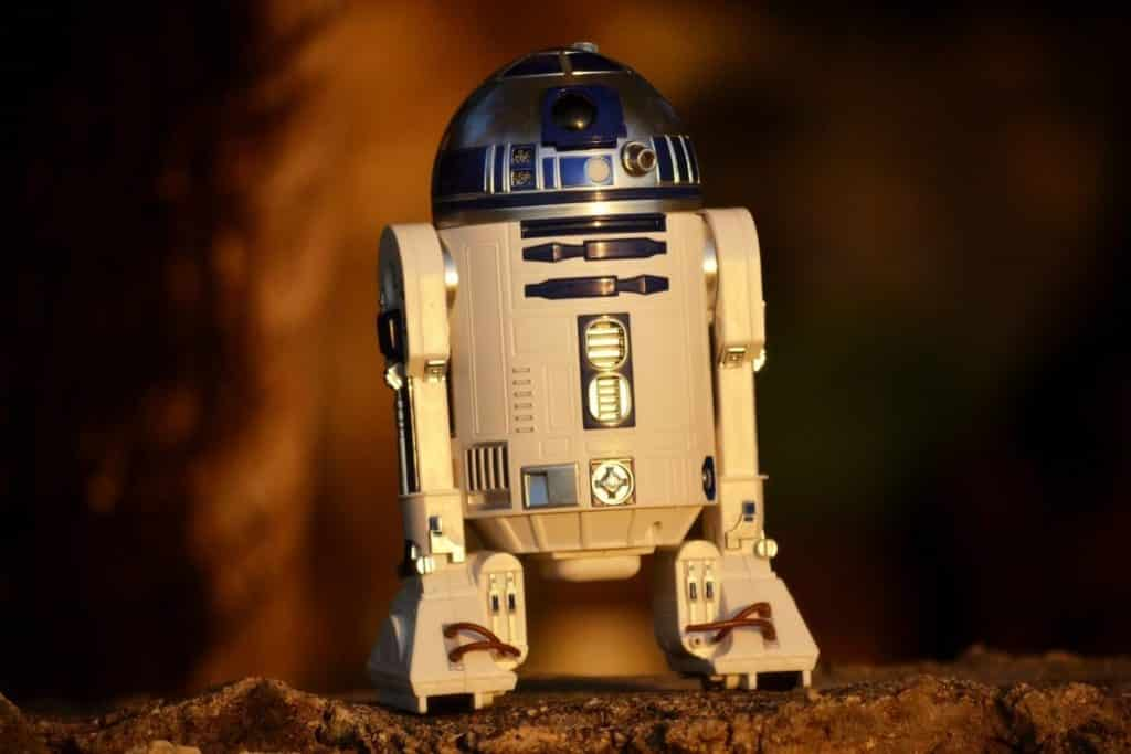 Closeup of R2-D2 from Star Wars.
