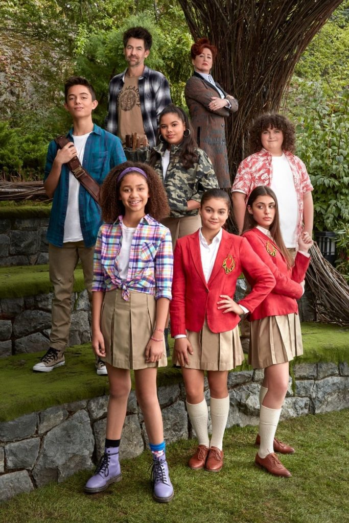 Photo of the cast from Upside Down Magic.